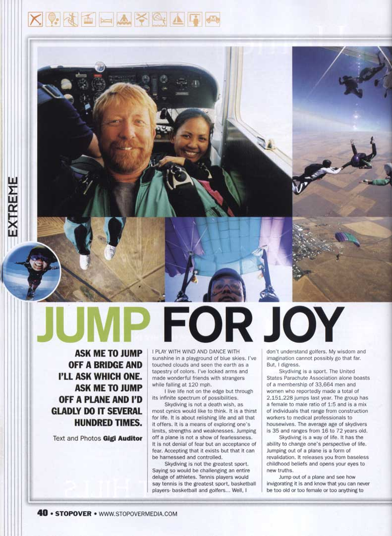 Jump for Joy article by Gigi Auditor on Stopover magazine part 1