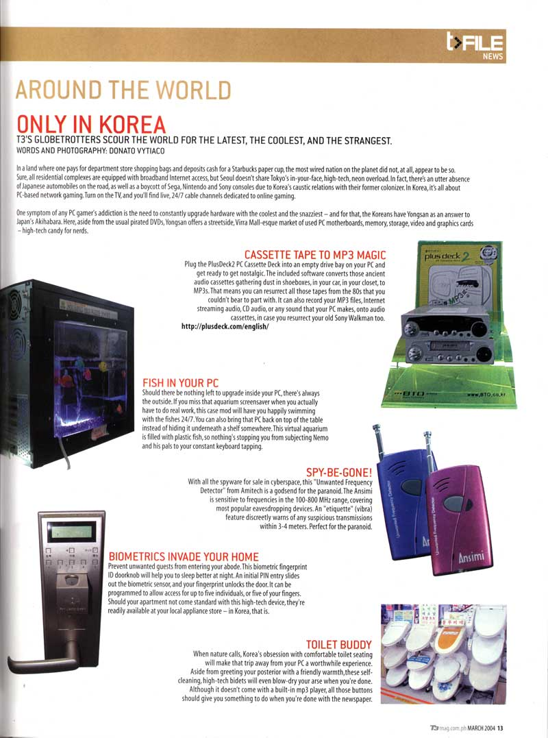 Around the World - Only in Korea article by donvy @ T3 Philippines