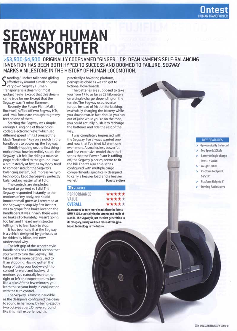 Segway HT Review by donvy @ T3 Philippines